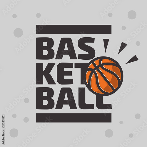 Basketball Themed Logo Emblem Design With Basketball Ball Vector Graphic