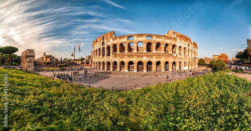 Colosseum, day time, before Sunset, Rome, Italy