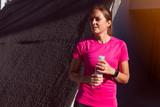 thirty something female in athletic clothing - 243359445
