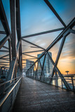 Hamburg Hafencity Sonnenaufgang Brücke