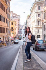 Traveler in Rome Italy during the day © Mark