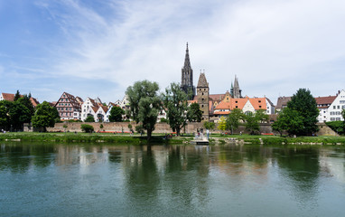 Panorama from the city Ulm with cathedral Baden-Wurttemberg Germany © oxie99