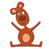 Cartoon of Teddy Bear Toy. Illustration.