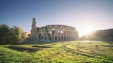 Colosseum in Rome and morning sun, Italy - 243373827