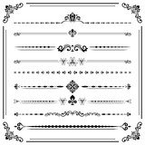 Vintage set of decorative elements. Horizontal separators in the frame. Collection of different ornaments. Classic patterns. Set of vintage patterns - 243375427