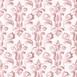 Seamless oriental ornament. Fine traditional oriental pattern with pink 3D elements, shadows and highlights - 243375880