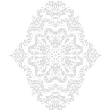 Oriental light pattern with arabesques and floral elements. Traditional classic ornament. Vintage pattern with arabesques - 243376092