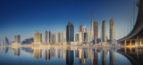 Panoramic view of Dubai Business bay, UAE