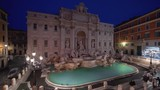 time lapse, sunrise time, Trevi Fountain in Rome, Italy  - 243380610