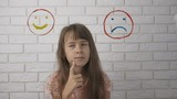 Picture of a sad and funny smiley. - 243381623