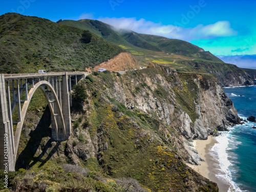 Foto Murales bixby creek bridge in big sur, california