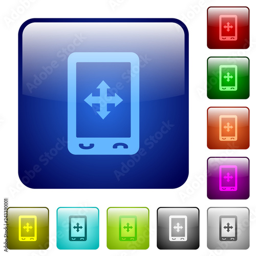 Mobile move gesture color square buttons - 243390001