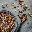 Leinwanddruck Bild - Fresh legumes in a bowl