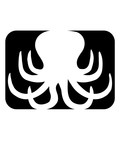 form button logo oktopus krake kopffüßer kalmar tentakel tintenfisch unterwasser monster comic cartoon clipart lustig design meer wasser tauchen fisch - 243405493