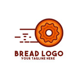 bread logo with cake white natural graphic 3d concept vector design - 243407403
