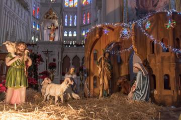 Nacimiento Navideño, virgen María Jose y Jesus, diciembre, 24 de diciembre, natividad