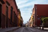 Calles de San Miguel de Allende, pueblo mágico en México.