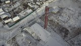 Working boiler plant. Aerial view. - 243421289