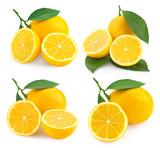 Lemon fruits isolated