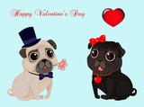 Vector Congratulation Happy Valentine's Day