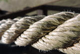 A rope used as a railing - 243442499