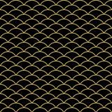 Seamless vector black and golden ornament. Modern background. Geometric modern pattern - 243447624