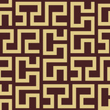 Seamless background for your designs. Modern vector brown and golden rnament. Geometric abstract pattern - 243447882