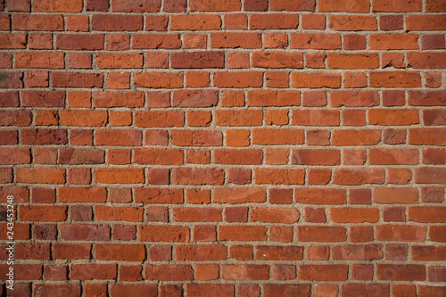 Fragments of a brick wall with a clinker brick - 243453248