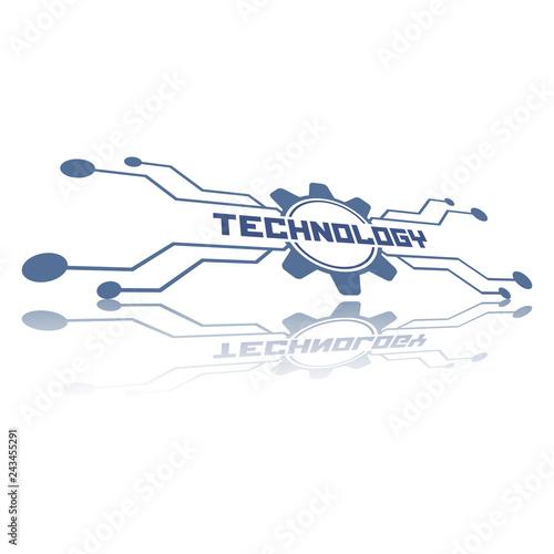 Technology logo template.