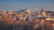 Rome. Aerial cityscape image of  Rome, Italy during winter sunset.
