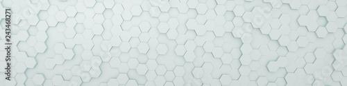 white hexagon background - 243468271