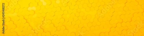 yellow hexagon background - 243468272