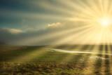 Fototapeta Natura - Sonnenstahlen in der Nebellandschaft © Thomas Otto