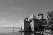 Chillon castle, Medieval fortress on the shores of Lake Geneva near Montreux