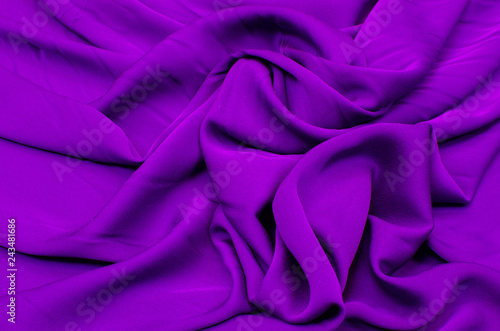 Leinwandbild Motiv Dark purple crepe de Chine fabric