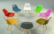 Leinwanddruck Bild - circle of modern design chairs with one odd one out. Job opportunity. Business leadership. recruitment concept. 3D rendering