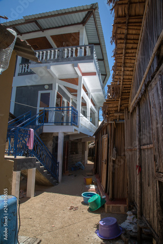 Narrow street in a village on the island of Nosy Komba