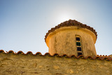 Detail of architecture church in Vathia town, Mani Greece. - 243496260