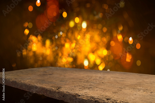 Christmas background with light spots and bokeh - 243501406