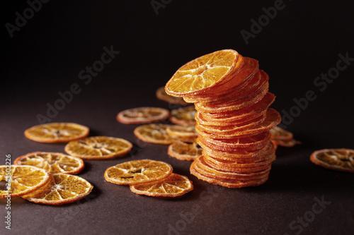 dried orange slices chips