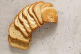 whole grain toast bread on the table - 243504890
