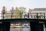 Amsterdam, Netherlands September 5, 2017 : Bridge over canal in Amsterdam - 243511063