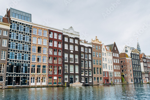 Fridge magnet Amsterdam, Netherlands September 5, 2017 : Streets, canals and architecture of Amsterdam. Netherlands