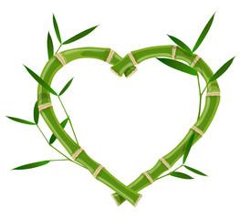Heart bamboo frame © ayax