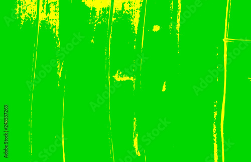 Leinwandbild Motiv yellow and green paint brush strokes background