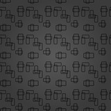 Seamless background for your designs. Modern dark ornament. Geometric abstract pattern - 243542843