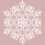 Oriental pattern with white arabesques and floral elements. Traditional classic ornament. Vintage pattern with arabesques - 243543631
