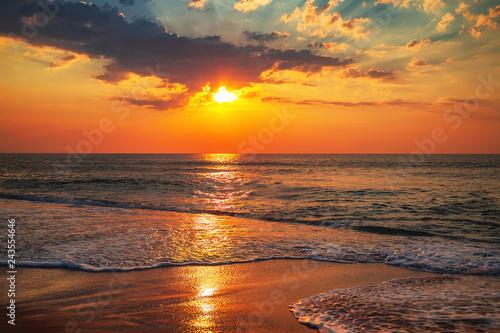 Beautiful sunrise over the sea - 243554646