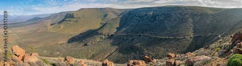 Panoramic view of the Gannaga Pass in the Tankwa Karoo