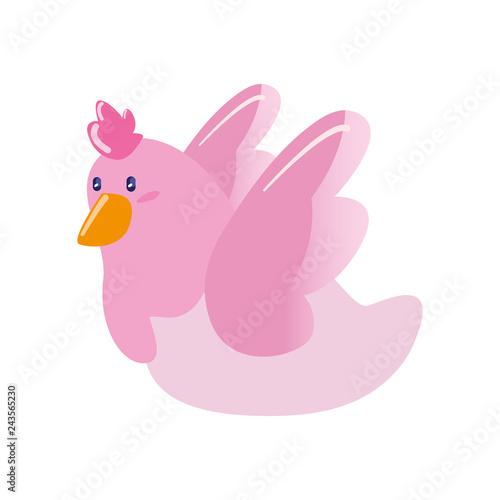 cute pink dove